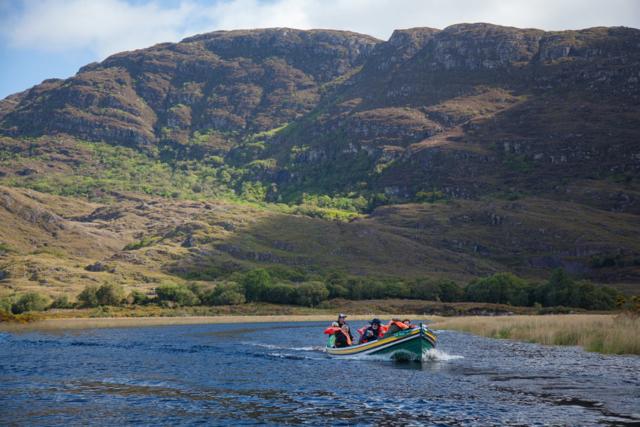 Travelling along the Long Range River, Killarney National Park